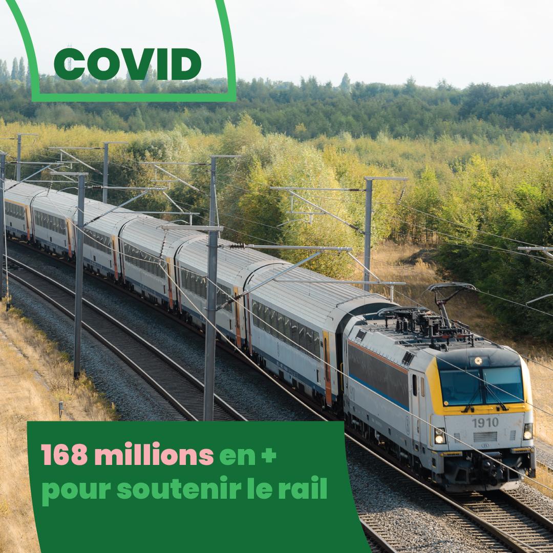 COVID - 168,4 millions d'euros en + pour soutenir les missions de service public du rail