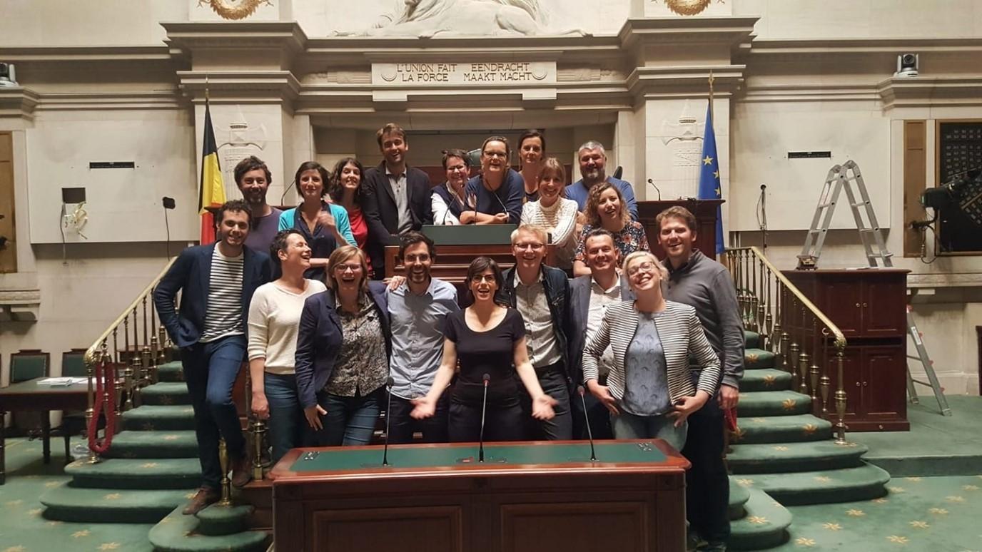Lid van de Kamer van Volksvertegenwoordigers, verkozen in de kieskring Namen: hier in jaartal samen met de Ecolo-Groen fractie.