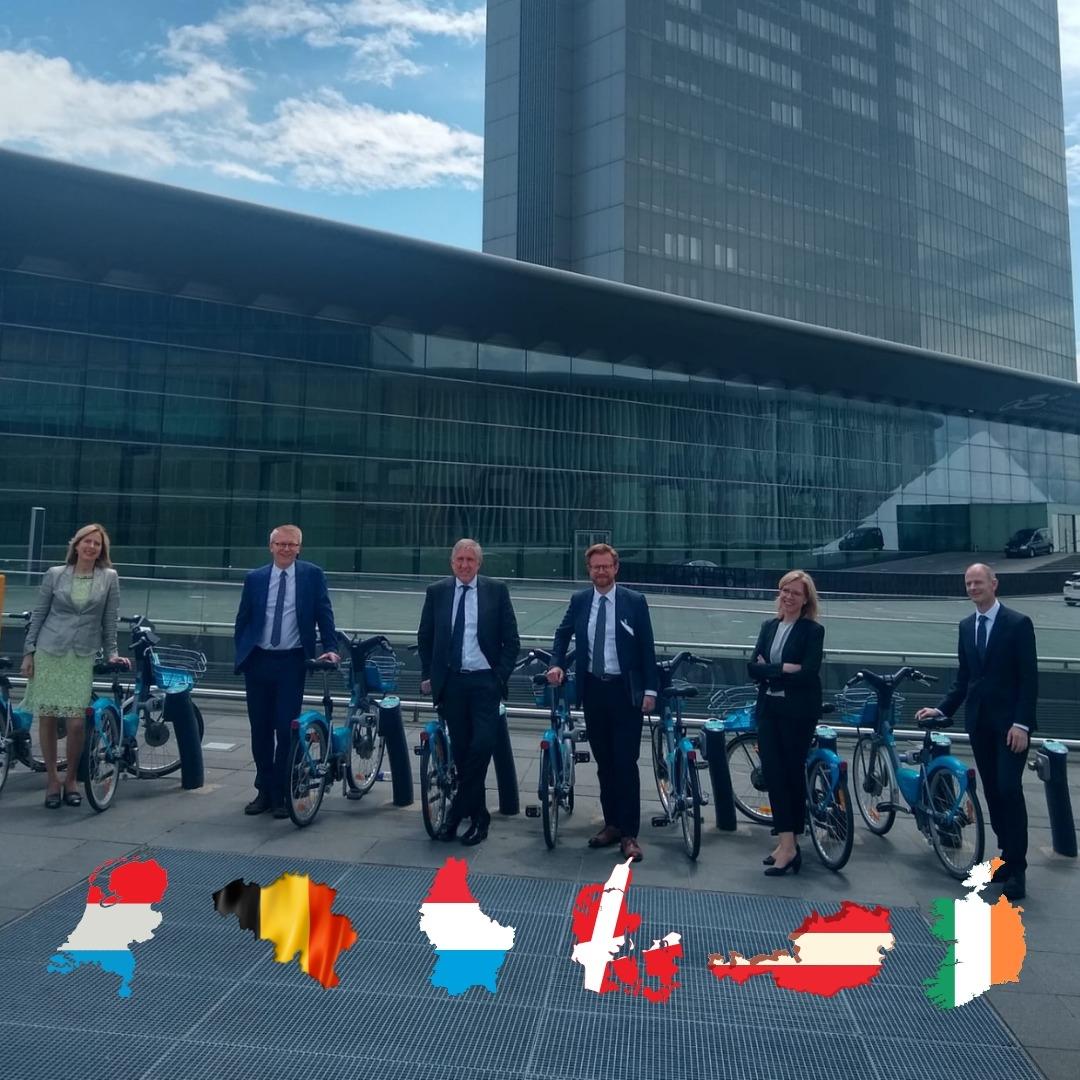 De ministers van Mobiliteit van de BENELUX, Denemarken, Ierland en Oostenrijk