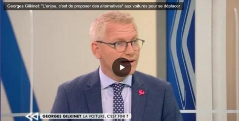 """Georges Gilkinet: """"L'enjeu, c'est de proposer des alternatives aux voitures pour se déplacer"""""""