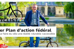 Le Gouvernement fédéral lance BE CYCLIST Le 1er Plan d'action fédéral pour la promotion du vélo