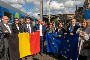 Trains connect people: De Connecting Europe Express stopt in België