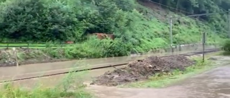 Inondations : Arrêt exceptionnel du trafic ferroviaire sur une grande partie de la Wallonie